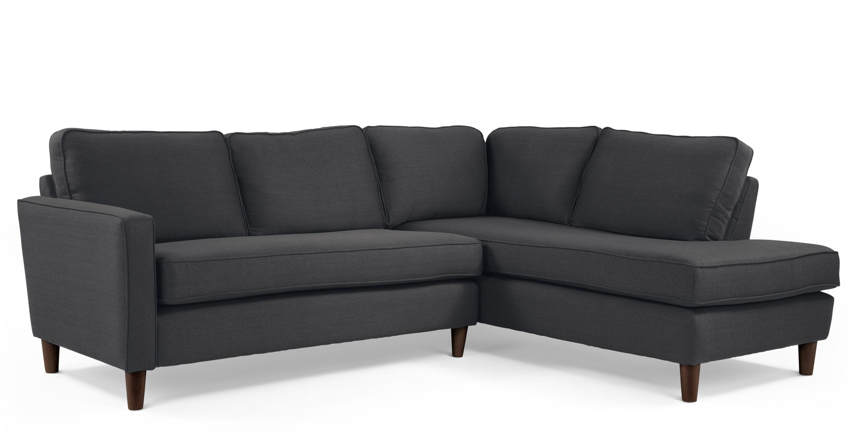 Lugano Right Hand Facing Corner Sofa Group In Ore Grey Made Com Corner Sofa Grey Corner Sofa Bed In Living Room