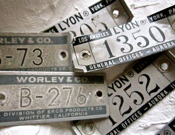 Old number school locker tags  Vintage Locker Number by pinksupply, $3.60