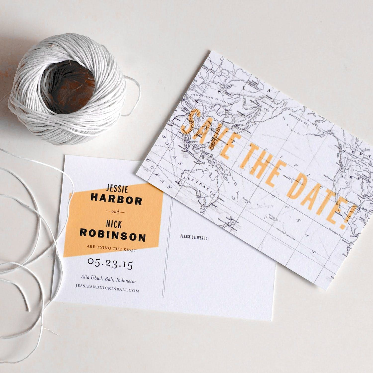Save The Date Destination Wedding Invitations: 19 Map-Inspired Wedding Invitations