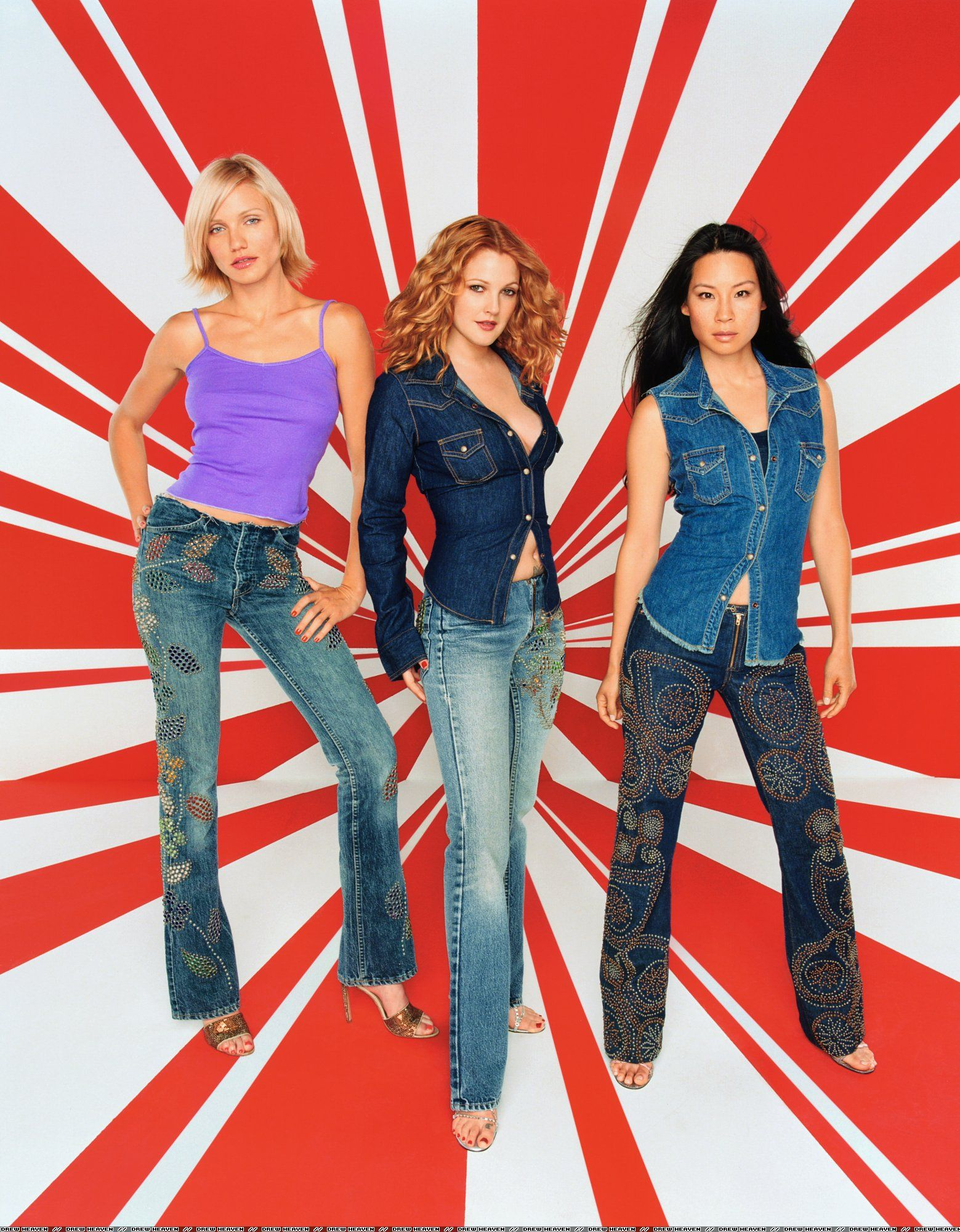 Lucy Lui, Cameron Diaz, Drew Barrymore, Charlie's Angels ...