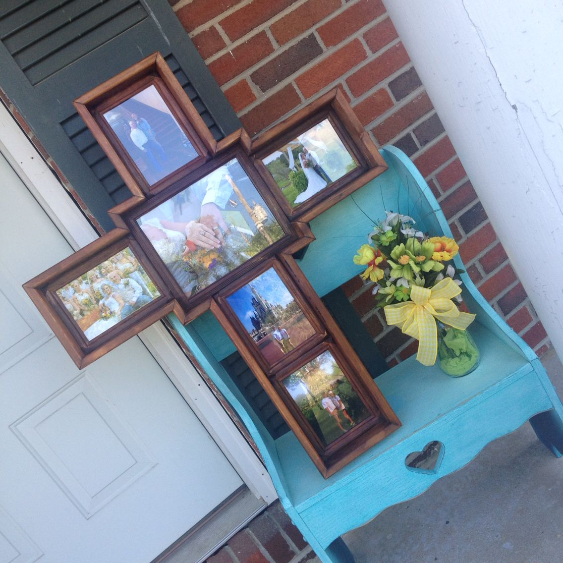 Wooden Cross Picture Frame... Oh, I need this in my house and it ...