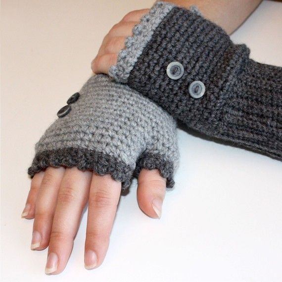 CROCHET PATTERN - Ladies Fingerless Mitts - Instant Download (PDF ...