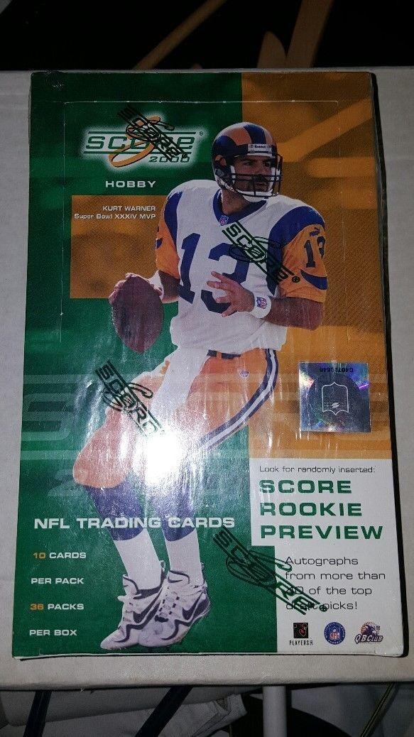 2000 Score Football Sealed Hobby Box TOM BRADY? Not many