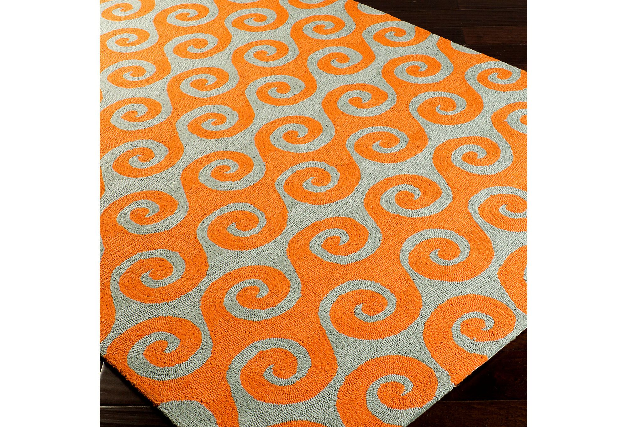 One Kings Lane - Durable Designs - Waves Outdoor Rug, Pumpkin- I am loving this for our roof top patio - new fav summer color