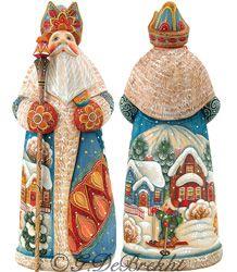 Holiday Pleasures 10 In 213302 Santa Figurines Christmas Nativity Scene Christmas Figurines