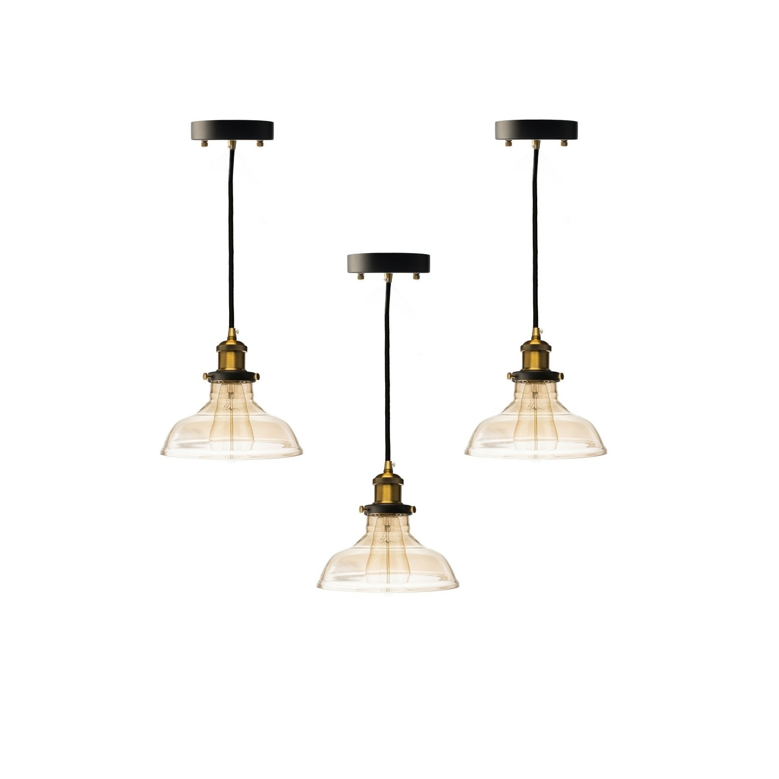 Pendant Set Large Wide Cognac Lamp Products In 2019
