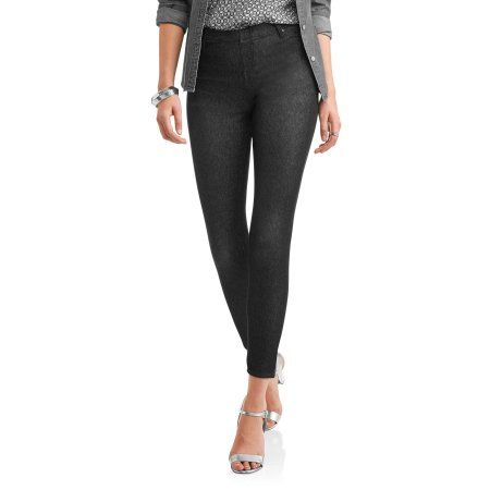31db293a26cec Faded Glory Women's Full Length Knit Color Jegging, Size: XS, Black