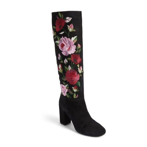 a19f1a8c289 KATE SPADE NEW YORK greenfield flower embroidered boot ( 349) ❤ liked on  Polyvore featuring shoes