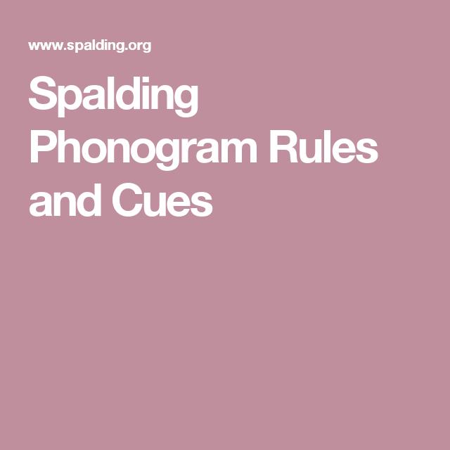 23 Best Spalding images   spalding, phonograms, spalding phonograms