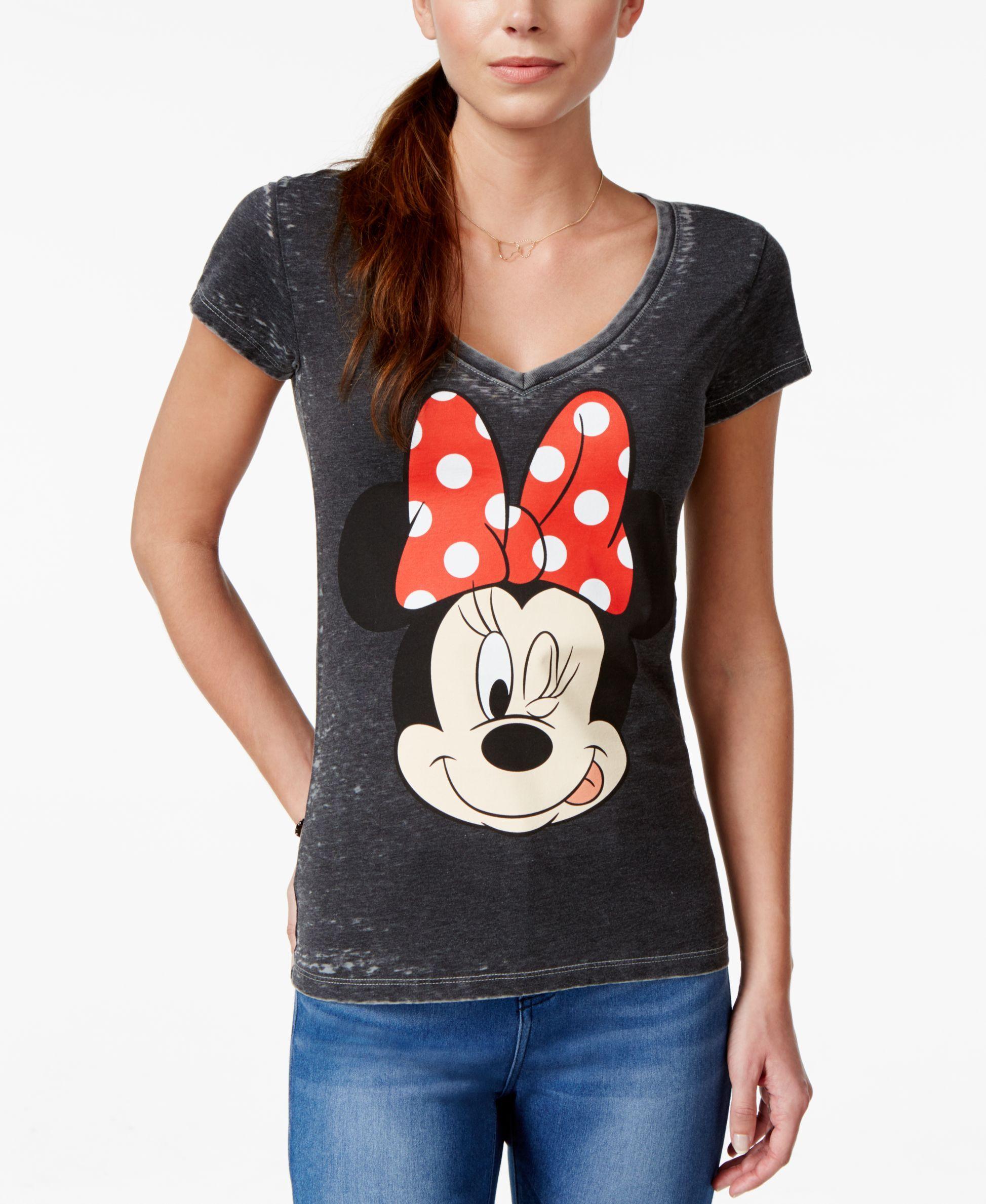 bb90665fae24 Hybrid uniors' Disney Minnie Mouse Wink Graphic T-Shirt | Disney ...