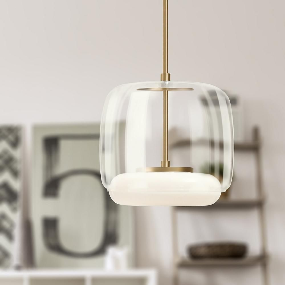 The Enkel Led Mini Pendant By Kuzco Lighting Is Reliably Lit By A Long Lasting Energy Efficient Led Light Source Its Frosted O Lamp Pendant Lamp Rustic Lamps
