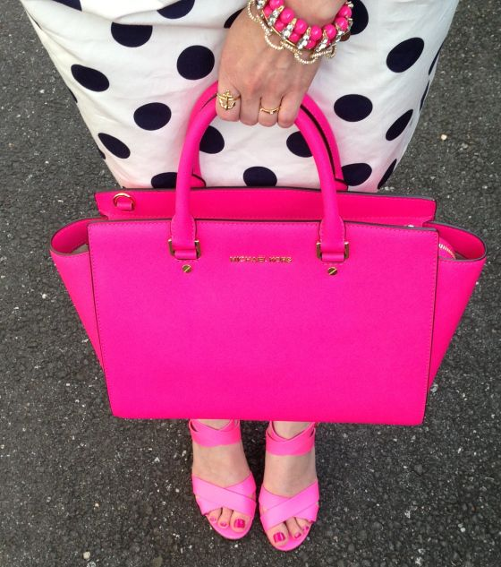 hot pink Michael Kors Clothing, Shoes & Jewelry : Women : Handbags ...