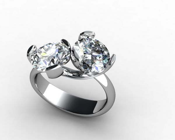 two stone engagement ring google search - Stone Wedding Rings