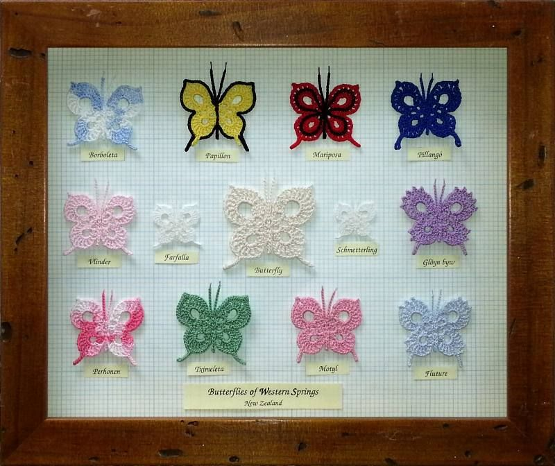Schmetterlings-Sammlung | Häkeln | Pinterest | Schmetterlinge ...
