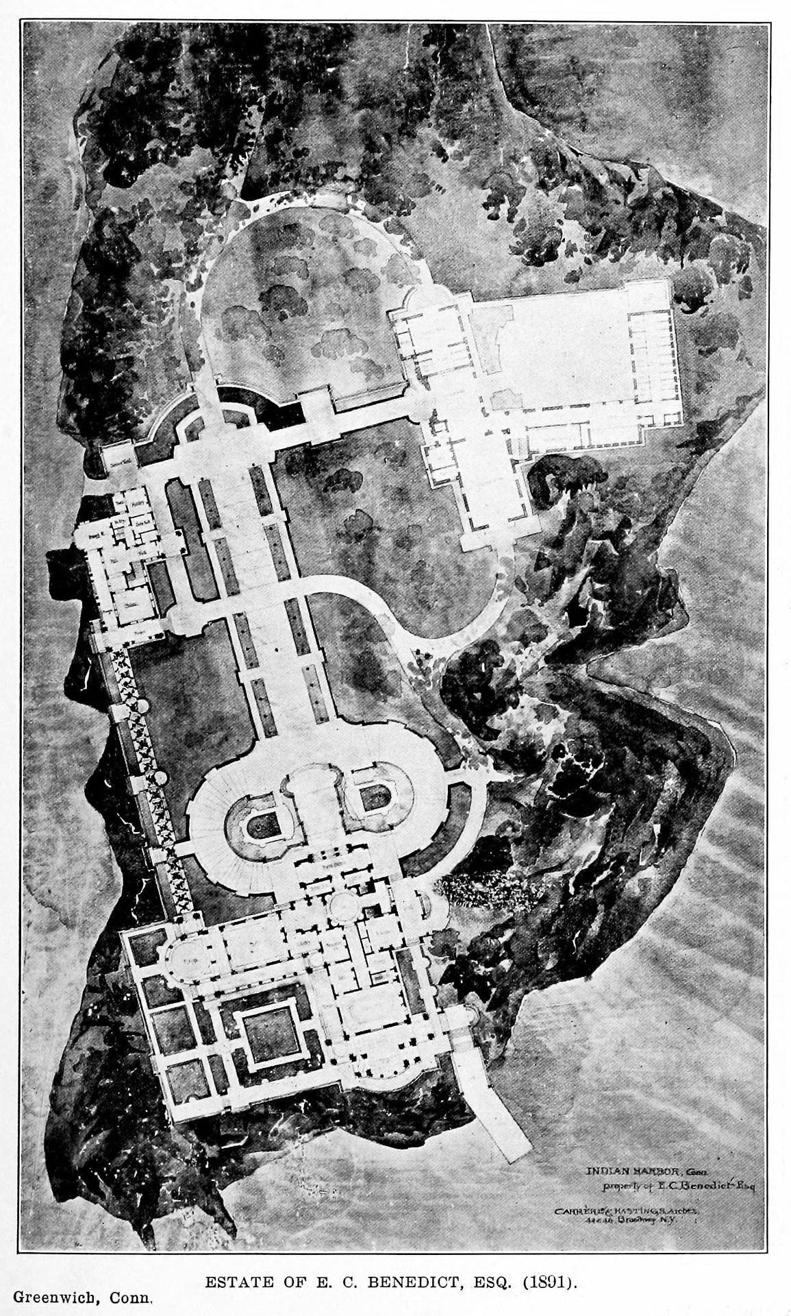 Plan of the Benedict Estate, Greenwich