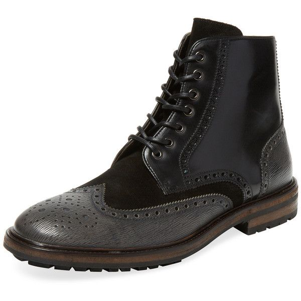 0fa2b66fcdb Hugo Boss Men's Weekifor Wingtip Boot - Black - Size 11 (24360 RSD ...