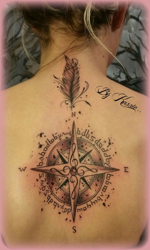 Tatouage Rose Des Vents Dans Le Dos Tres Original Avec Ma Touche