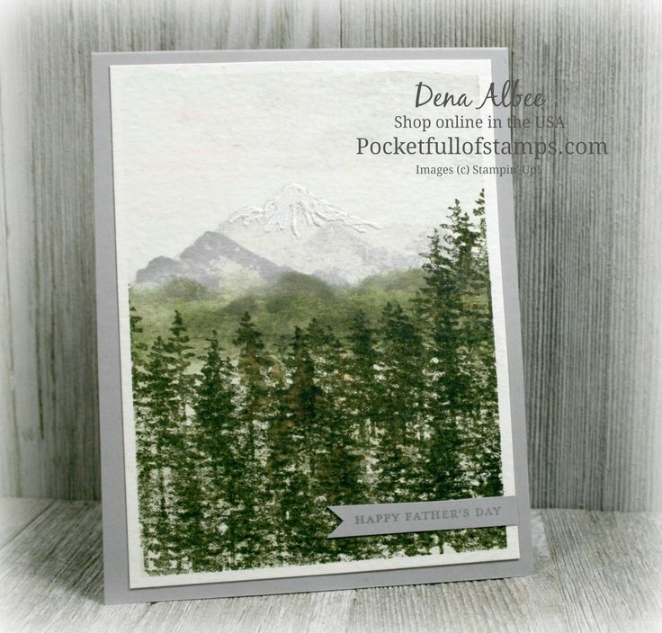 Stampin' Up! Waterfront - Inspired by fellow demonstrator, Linda Dalke, I created this pretty watercolor card by looking at a photograph for stamp placement and colors...and I made a Card Quickie video to show you how to do it, too!