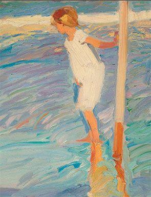 Joaquin Sorolla y Bastida (Spanish, 1863-1923) Miedo al agua (detail). Oil on canvas, 173 x 112cm