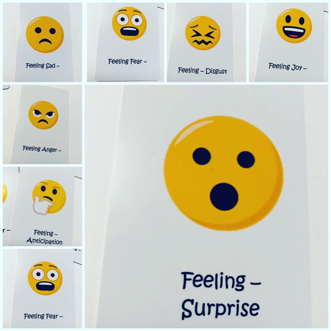8 Emoji Emotion Cards