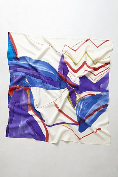 Unleashed Brushstrokes Scarf #anthropologie