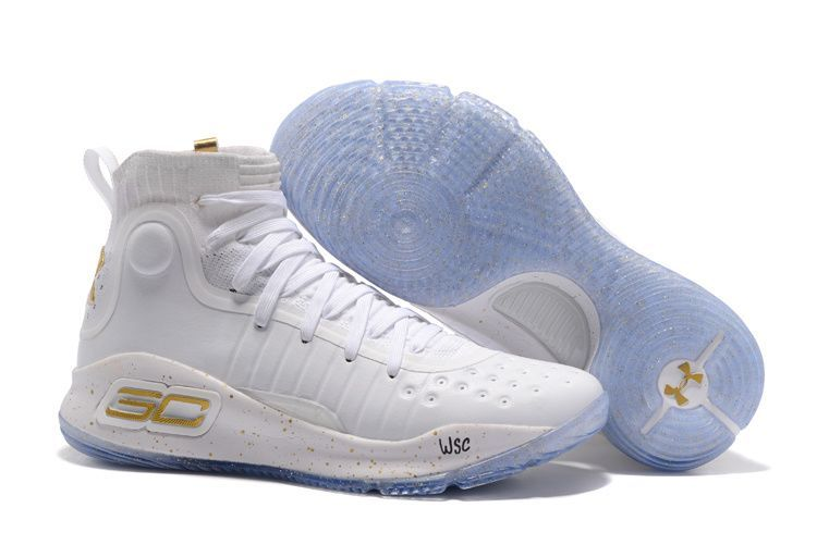 "7d4c7f6ea76 Cheap Under Armour Curry 4 ""NBA Finals"" White Gold For Sale"