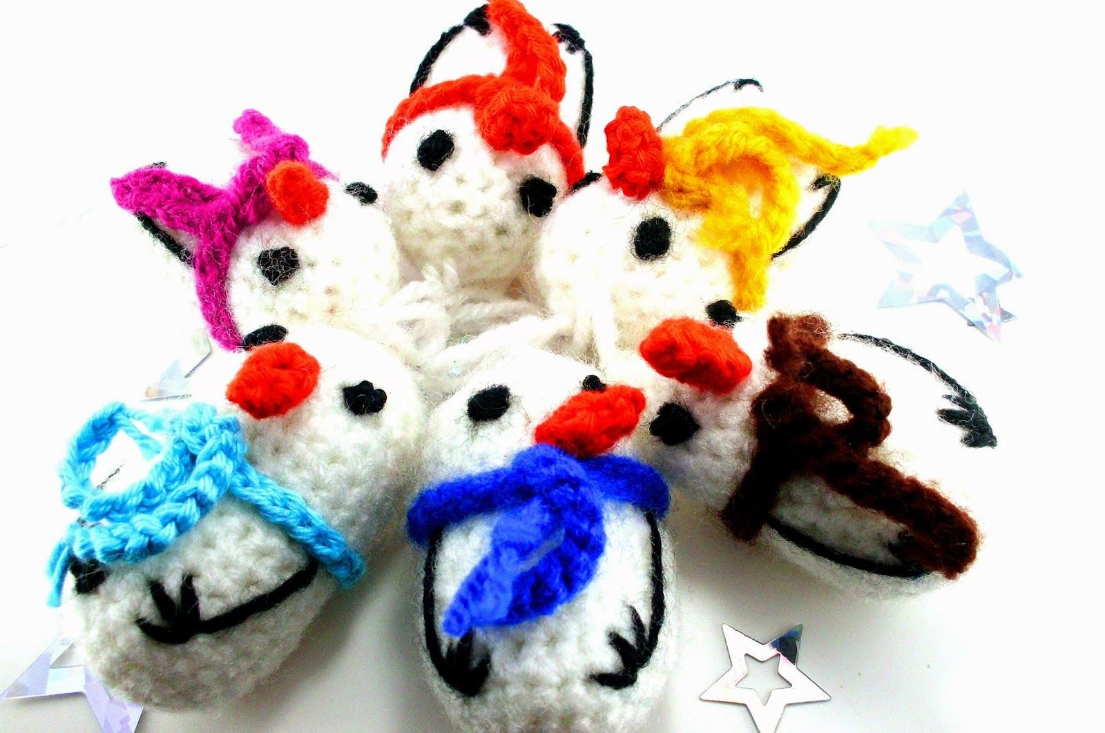 Catch in Sky DIY-Blog: Häkelanleitung Schneemann, crochet pattern ...