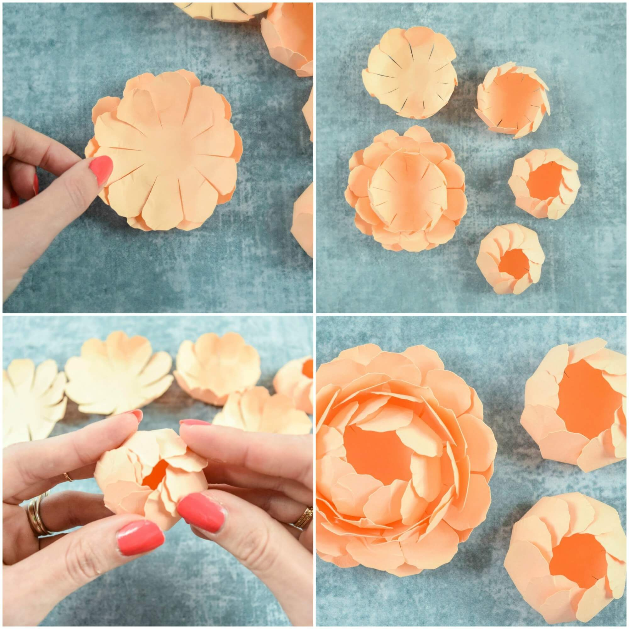 Peony Paper Flower Template Step By Step Easy Paper Flower