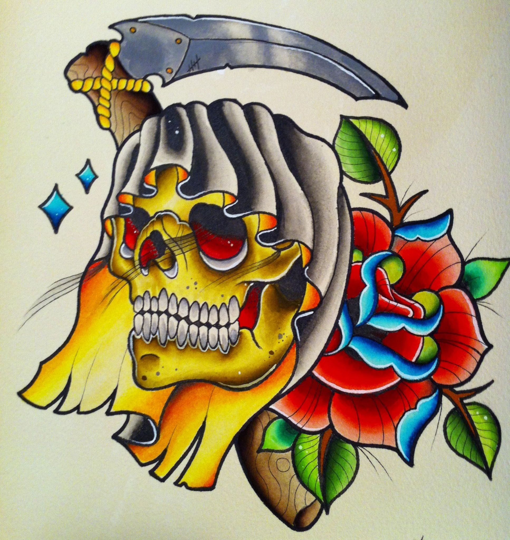 Grim Reaper Tattoo Nordic Tattoo: Grim Reaper Tattoo Flash. If You Like My Work Follow Me On