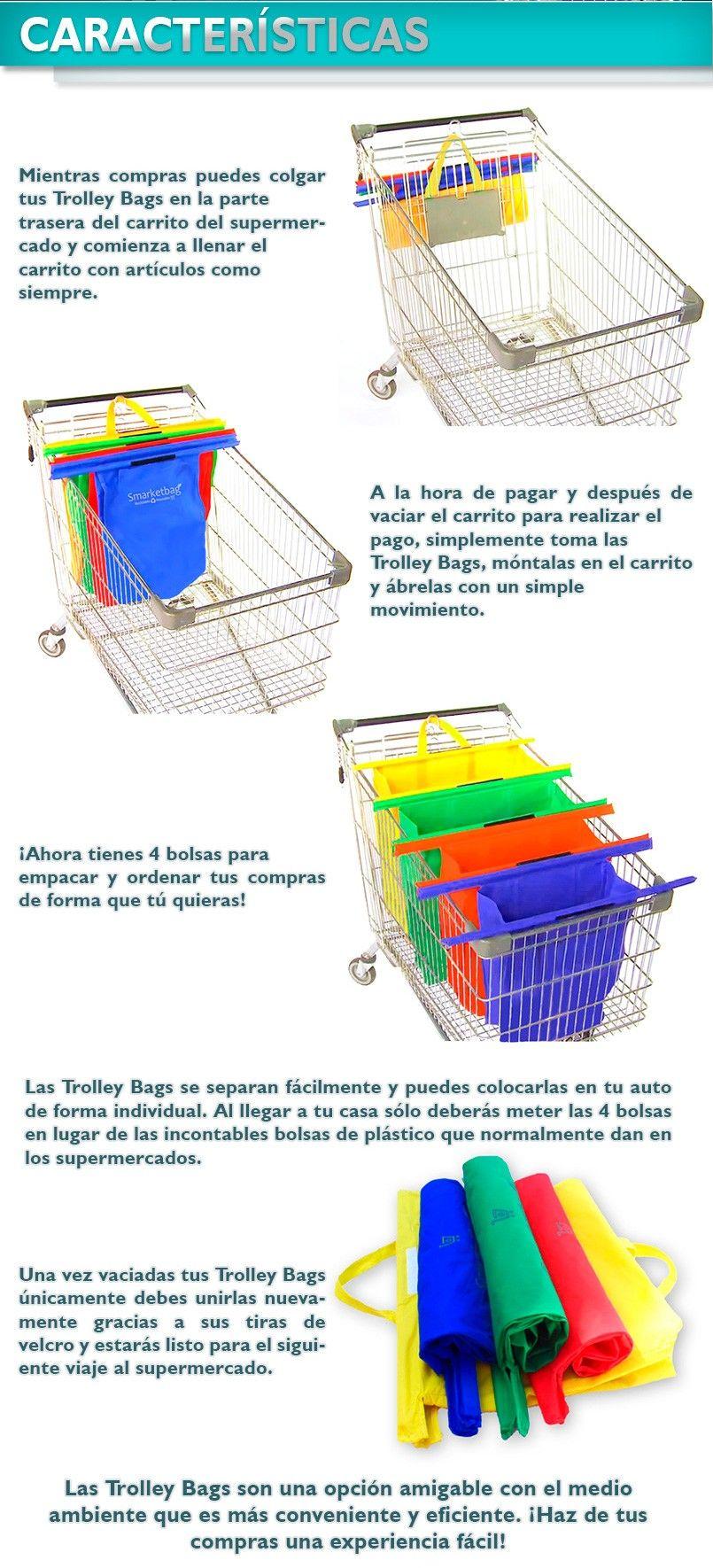 Smartbags Para Carrito De Supermercado Ecologico Reusable | BOLSAS ...