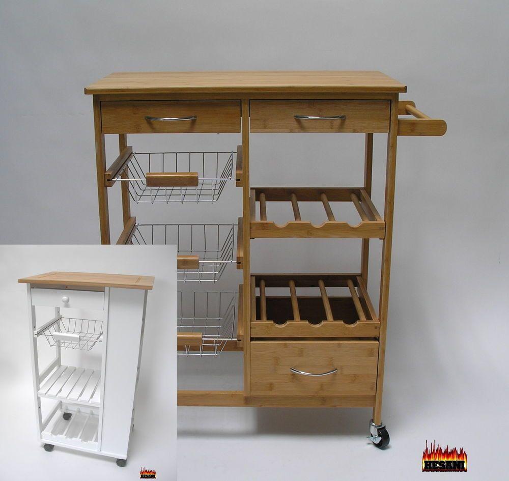 Kleine küchenideen vor und nach details zu küchenwagen  modelle weiß oder natur holz servierwagen