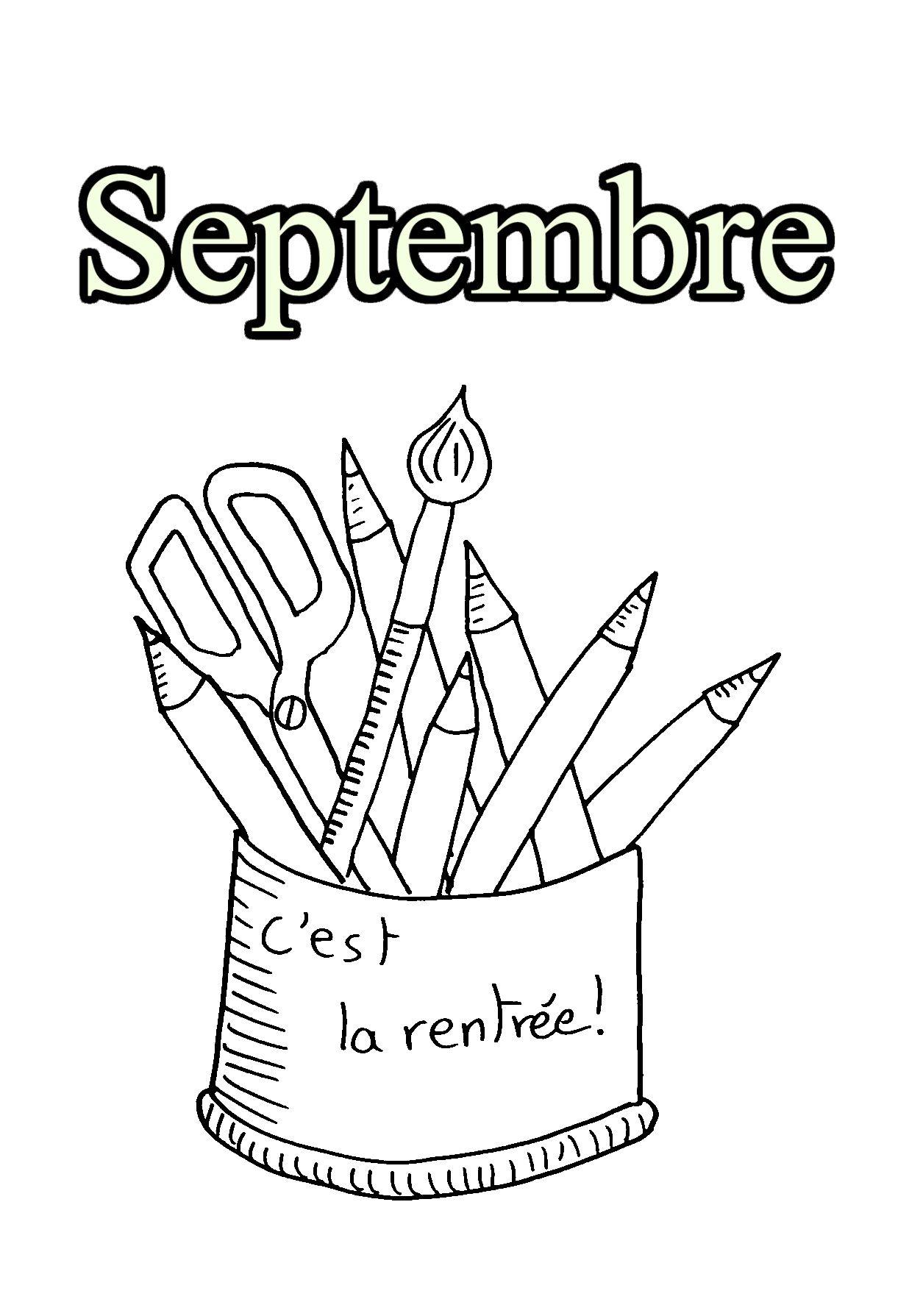 Pour Imprimer Ce Coloriage Gratuit 09 Septembre Cliquez