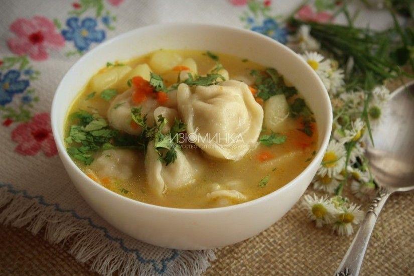 Суп с пельменями в мультиварке | Кулинария, Идеи для блюд, Еда