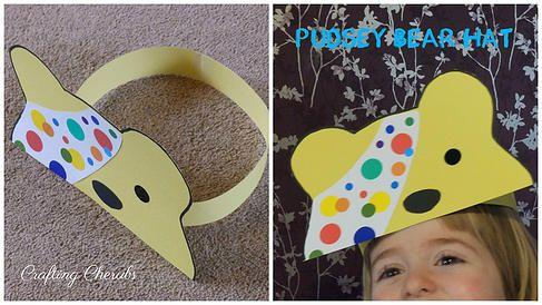 Craftingcherubsblog Pudsey Bear Hat Crafts Children In