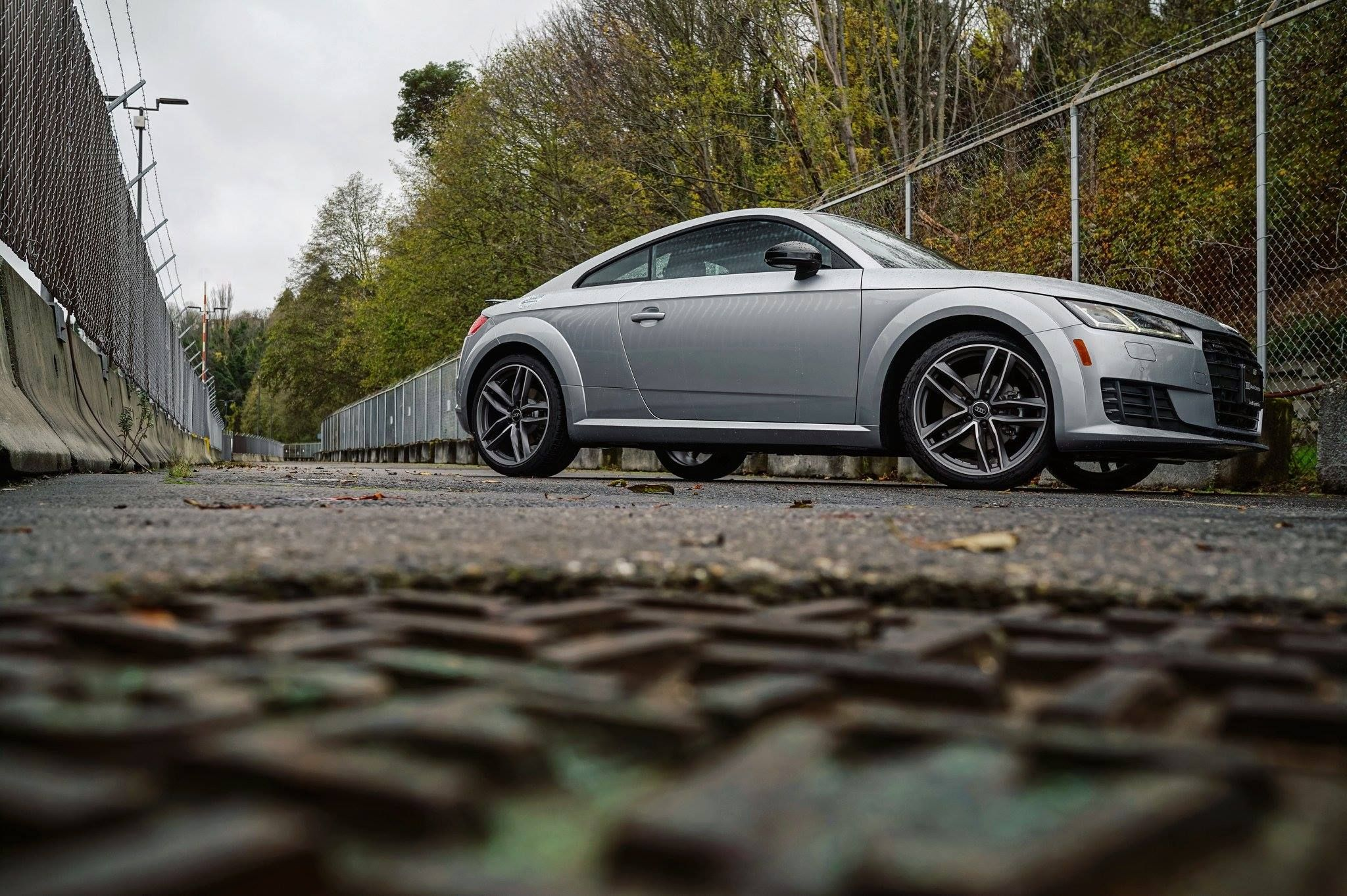 The 2017 TT Coupe is available with the black optics package which