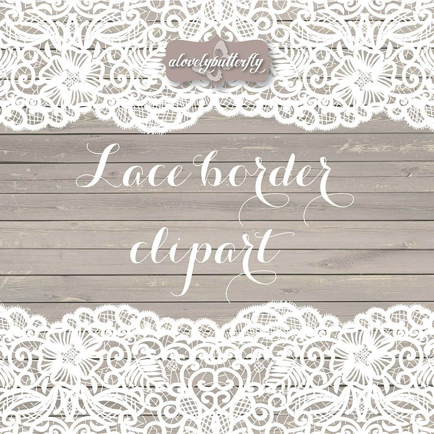 Wedding Clipart Lace Border Rustic Shabby Chic Bridal Shower INSTANT