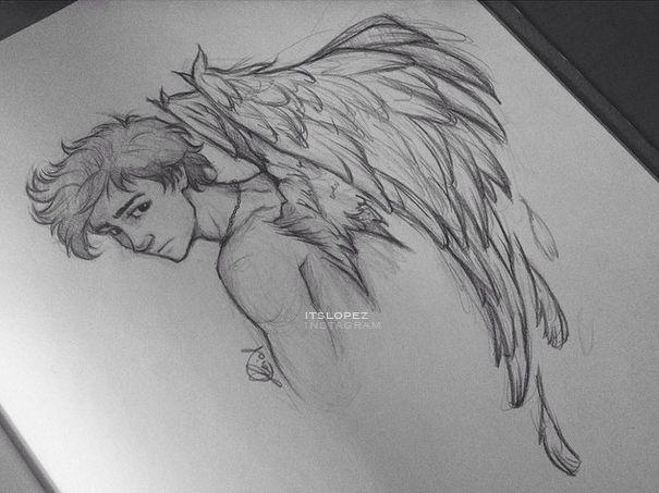 Dibujo Angel Desenhos A Lapis Desenhos Inspiradores Desenhos
