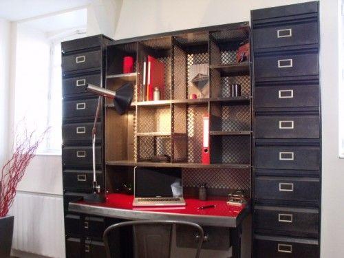 Bureau centre de tri mobilier industriel home