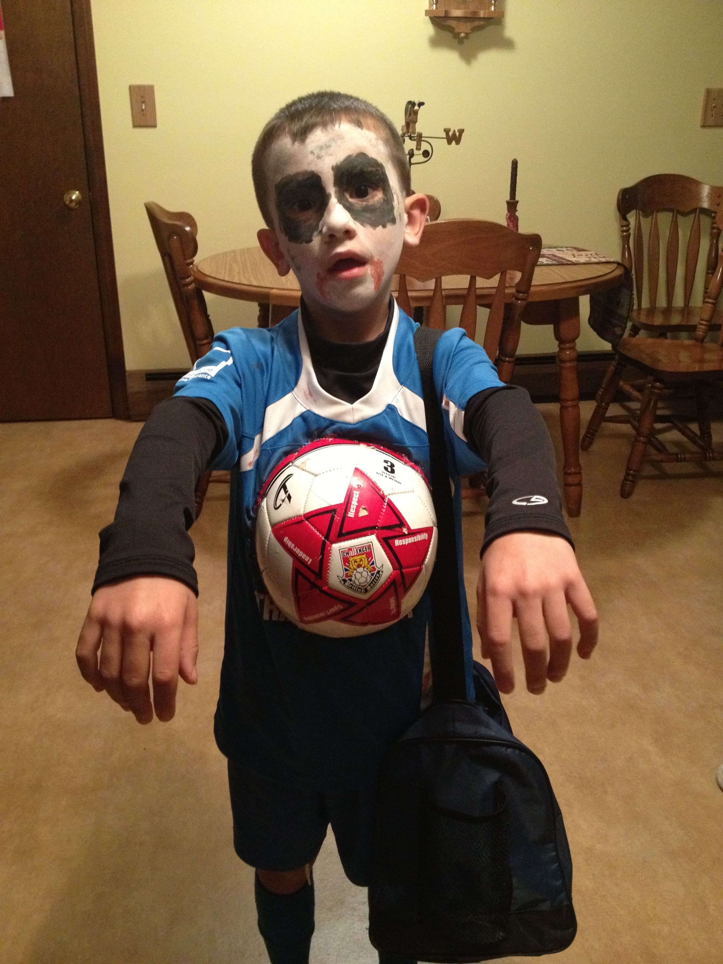 Zombie Soccer Player Halloween Costume Ideas