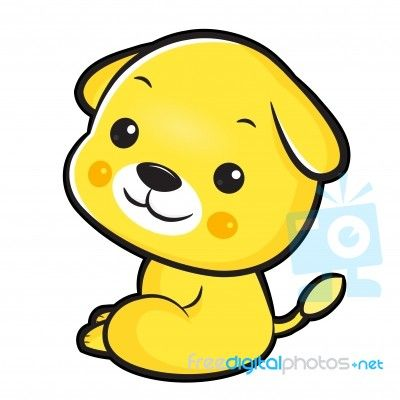 The Left Sit Dog Mascot. The East Twelve Zodiac Character Design