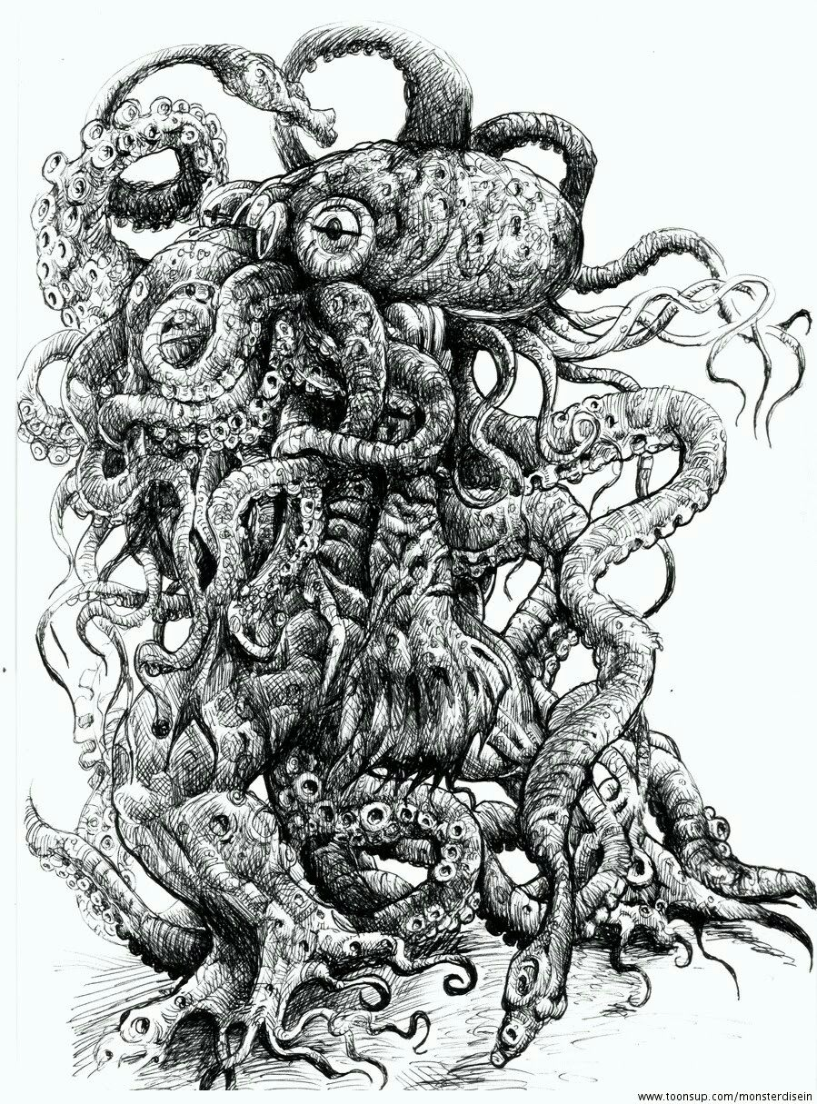 Pin By Leviatan Lavey On Cthulhu Mythos Lovecraft Art Sick Drawings Horror Art