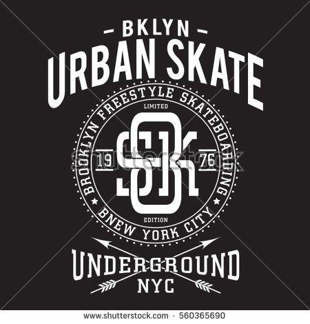 Skate board sport typography, tee shirt, graphics, vectors