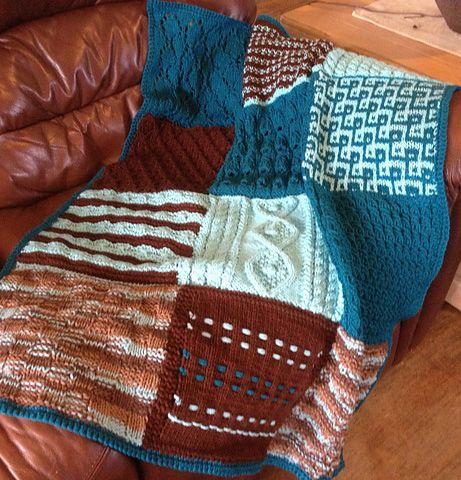 Free Knitting Pattern For Sampler Afghan Knitting Pinterest