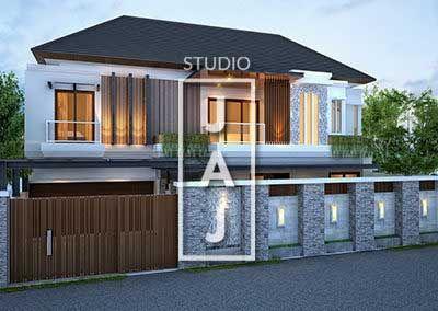 desain rumah 2 lantai luas 320m2 bp isra di jakarta