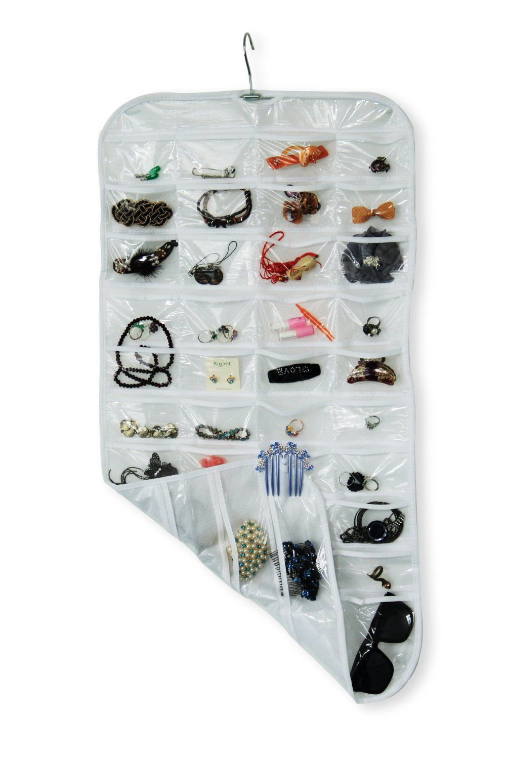 Amazoncom BE Home Essential Hanging Jewelry Organizer White