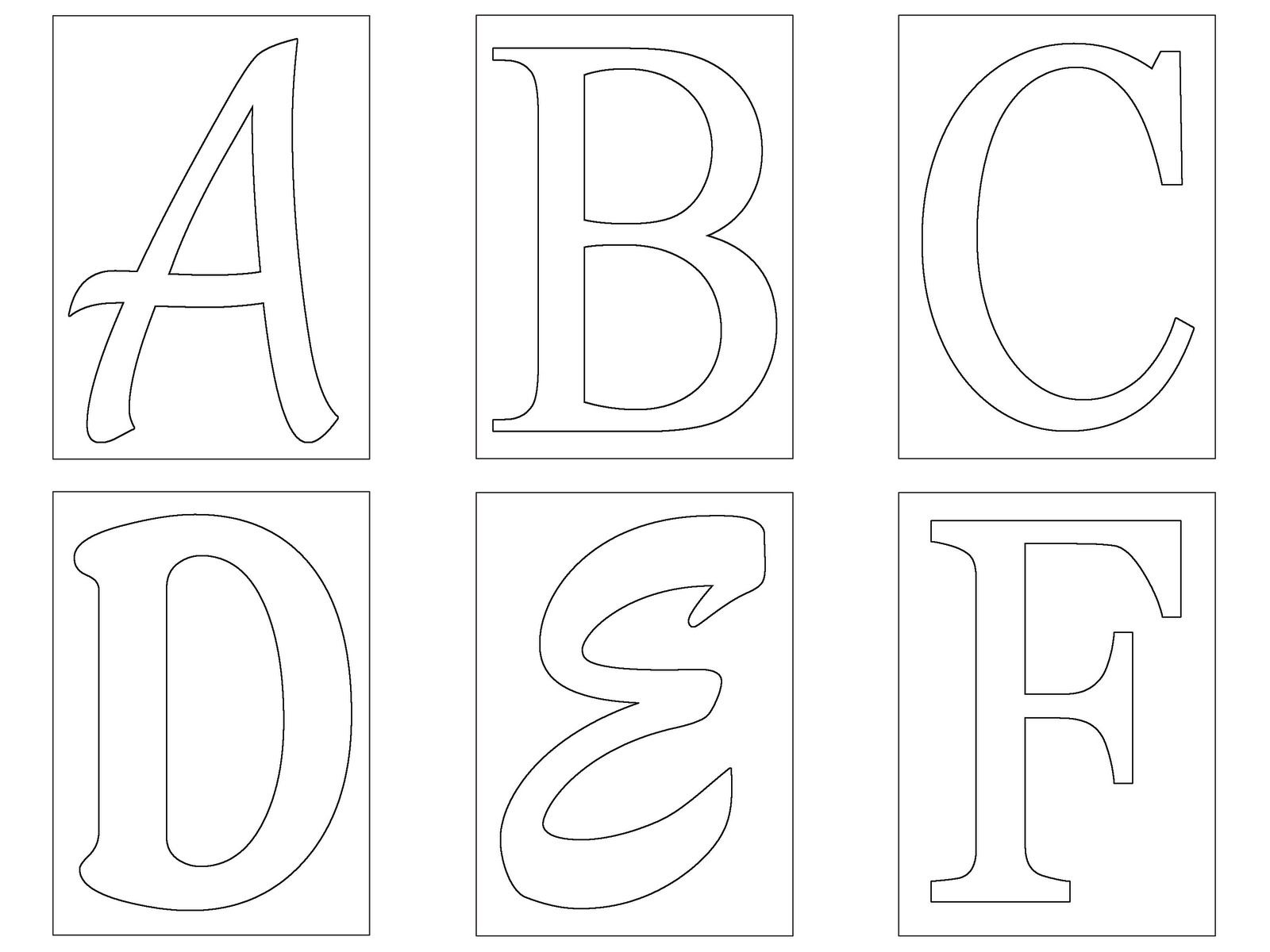 letter free templates