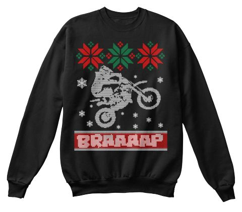 Braaaap Black Sweatshirt Front