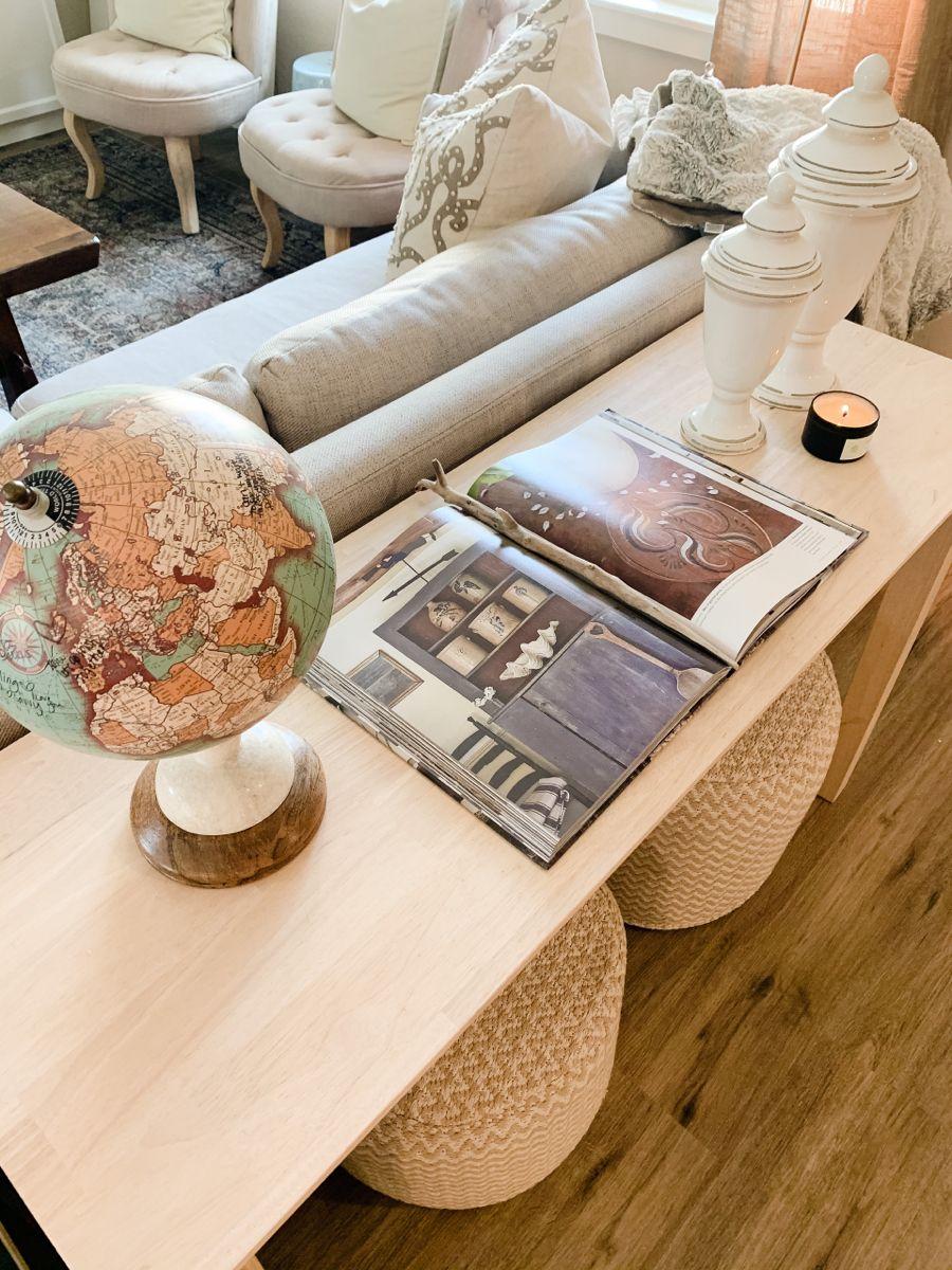 Living Room Tour Organic Modern Organic Modern Room Tour Solid Wood Coffee Table [ 1200 x 900 Pixel ]