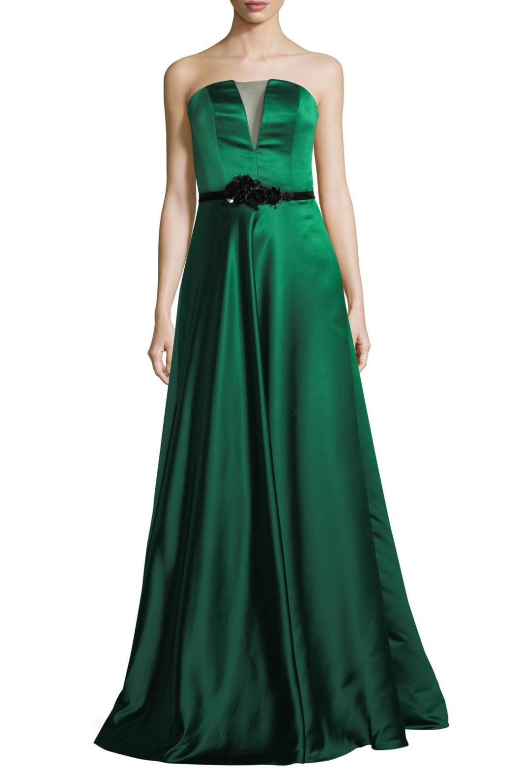 Theia Strapless Evening Gown | Gowns, Bodice and Red carpet