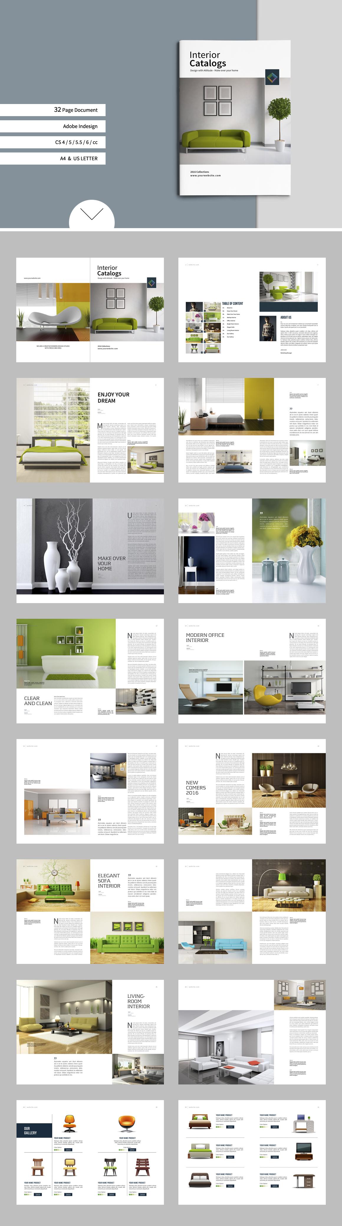 Interior Catalogs by tujuhbenua on creativemarket